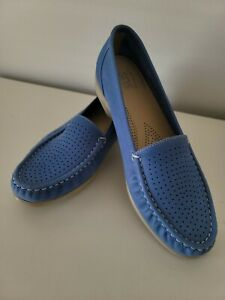 SAS Comfort Footbed Insole In Blue Leather Loafer 8.5