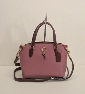 NWT Coach Remi Satchel Leather Handbag 1316 Rose/Wine