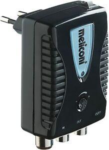 Meliconi AMP20 Amplificatore d'Antenna Digitale per Interni con filtro LTE, Nero