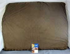 Nap Pet Beds Terry & Suede Deluxe Get Top Ortho Mat - Espresso - Jumbo 35x44""