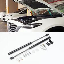 Black Engine Hood Lift Support Shock Strut Damper 2pcs For Mazda CX-9 2016-2020