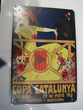 REF 122 Cartel Placa Metal 20X30CM 150gr - Copa Catalunya Mataró Barcelona 1910