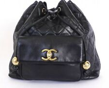 Certified authentic Vintage CHANEL lambskin Matelasse Backpack