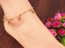 Hamsa Three Hand Anklet Yellow Gold