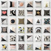 Rose Gold Marble throw pillows case Geometric sofa car cushion cover Home Decor