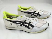 Vintage 70/80's Asics Gel Runners Shoes Sz 14 Very Rare New No Box White Green