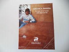 advertising Pubblicità 1982 CERAMICA PANARIA e ADRIANO PANATTA