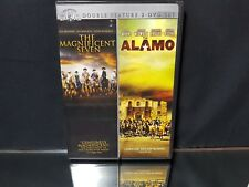 The Magnificent Seven & The Alamo Double Feature 2 x DVD SET - DVD Video NEW