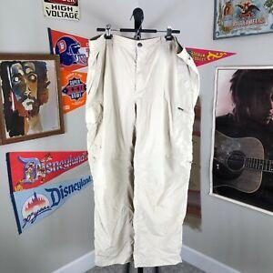 Columbia Omni-Shade Convertible Pants Nylon Beige Men's 42x30