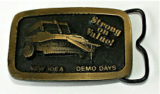 Vintage New Idea Demo Days Farm Equipment Machinery Tractor Belt Buckle NOS New