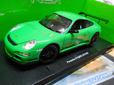 Porsche 911 (997) Carrera gt3 rs Green vert 2010 welly 1:18