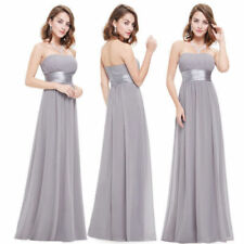 A-Line Long Dresses for Women with Pleated