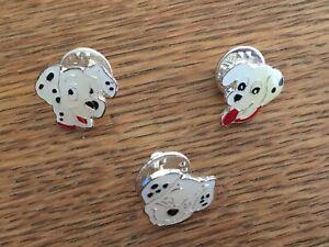 DISNEY STORE UK 101 DALMATIAN PUPPIES 3 PINS FROM A 4 PIN SET PUPS HEADS.