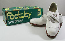 NIB Vintage White Leather FootJoy Classics Women's Wingtip Style Golf Shoes 7.5B