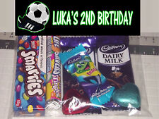 12 Personalised Party Lolly / Loot Bags with Soccer Design - Any Name and Age