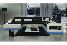 Ecksofa Sofa Couch Polster Wohnlandschaft Leder Eck Sofas Garnitur U Form H2209