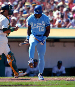 "Bo Jackson - 8"" x 10"" Photo - Bat Breaker - Kansas City Royals"
