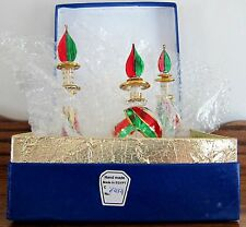 Set of 3 PERFUME BOTTLES Gold Trim New n Box MINT made n Egypt (see all photos)