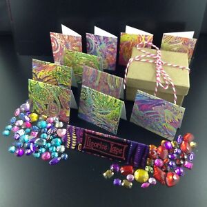 Rainbow Mini Cards Box Set, 20 Mini Cards Tags in each box, Small Gift Present