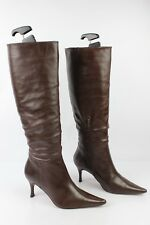 Boots Heels Needle VIVALDI Paris All Brown Leather FR 36,5 VERY GOOD CONDITION