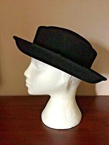 M&S 100% Wool Black Hat / Trilby / Panama - One Size - New