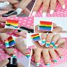 8PCS Fashion DIY Nail Art Sponge Stamp Stamping Polish Transfer Manicure Tools