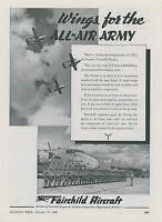 1948 Fairchild Aircraft Ad C-82 Packet Plane Army Troop Transport Airplane