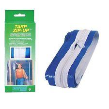 Tarp Zip Up Zipper Door Grow Room Tent Doorway Garden Hydroponics Tarpline Poly
