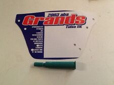 Collectors ABA Grands old school bmx number plate NBL USA