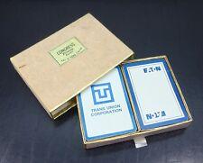 Vintage Double Deck Congress Cards Cel-U-Tone Finish Corporate Logos Advertising