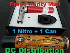 Vector Nitro Torch KGM Red + One Can Vector Signature Butane Filtered 14 Times