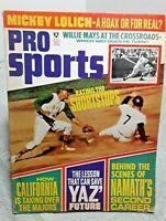 Pro Sports Magazine July 1969 Lolich Mays Yastrzemski Namath Pete Rose more