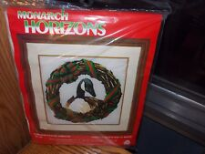 Roger Reinardy Canada Goose Wreath Long Stitch Needlepoint Christmas Kit 1985