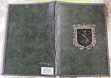 Ancienne liseuse cuir lion armoiries vintage bel état 17 x 25 cm