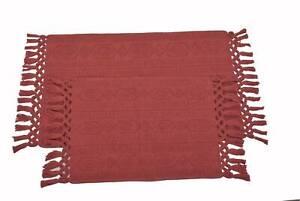 "100% Cotton Hand Woven 2pc Bath Rug Set 21""x34""/17""x24"" JBR1"