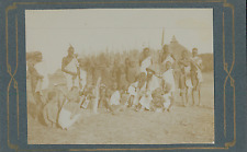 Egypte, Nubie, Tribu Nubiens et Colon             Vintage citrate print Tira
