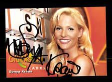 Sonya Kraus Glücksrad Autogrammkarte Original Signiert # BC 124323