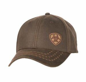 Ariat Mens Oilskin Barb Wire Stitch Ball Cap Hat