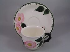 VILLEROY & BOCH WILD ROSE CUP AND SAUCER.