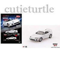 Mini GT USA Exclusive Toyota Supra JZA80 1:64 Diecast White MGT00014