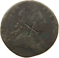 GREAT BRITAIN HALFPENNY GEORGE III. COUNTERMARKED X #s21 747