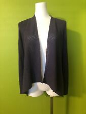 Eileen Fisher PS P S P/S  purple open front wool cardigan sweater jacket top