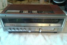 Vintage YORX AM FM Electronic CLOCK / CASSETTE PLAYER Digital R5190 Works