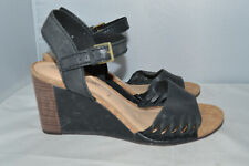 Womens Clarks Leather Summer Wedges Sandals Size UK 5 E wide fit new