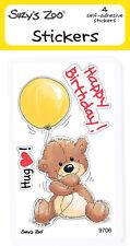 "Suzy's Zoo Stickers 4-pack, ""Happy Birthday Bear"" 10124"