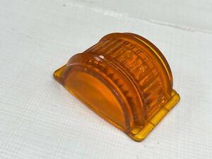 6 Volt Glass Amber Lens Orange Turn Signal Blinker Man Cave Décor