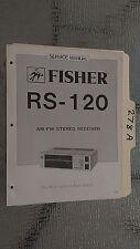 Fisher rs-120 service manual original repair book stereo receiver tuner radio