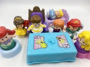 Little People Disney Princess Lot Tangled Ariel Anna Cinderella Prince Throne