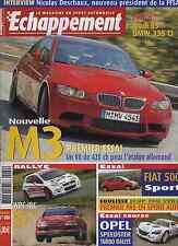 ECHAPPEMENT n°480 08/2007 BMW M3 V8 AUDI S5 BMW 335i OPEL SPEEDSTER