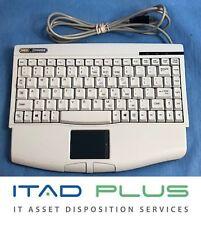 Adesso MedXChange ACK-540UW Mini Touchpad USB Keyboard for Windows w Wrist Rest